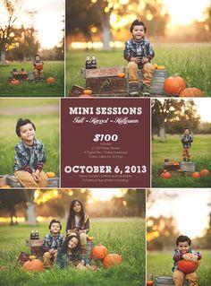 Fall - Harvest- Halloween Mini Sessions | Fresno. Ca Mini Sessions - Fresno Photographer Carrie Anne Miranda Photography, Family Photography...