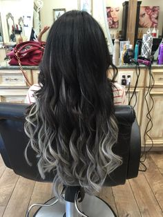 New Hair Extensions Before And After Thin Products 42 Ideas Ombre Hair Color, Cool Hair Color, Grey Wig, Curly Wigs, Balayage Hair, Brown Balayage, Hair Dos, Dark Hair, Light Hair