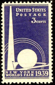 really nice, geometric World's Fair stamp