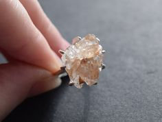 Handmade Raw Diamond Engagement Ring Rough Diamond Wedding Band Unique Gemstone Sterling Silver Promise Ring Size 6 Engagement Avello