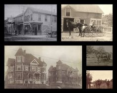 Pictures from Peru, IL. Picture with horse is my great-great grandfather, Charles Nadler. The drug store in the upper right corner was his. The two homes are those of the Nadlers and Bruners, whose children married.