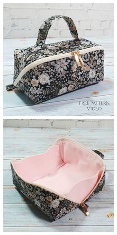 Diy Sewing Projects, Sewing Tutorials, Sewing Hacks, Sewing Crafts, Makeup Bag Tutorials, Sewing Machine Projects, Sewing Ideas, Bag Patterns To Sew, Sewing Patterns Free