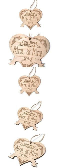 2016 Our First Christmas as Mrs. & Mrs. ornament - 4 in x 3.75 in