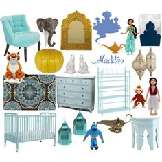 """Aladdin (Princess Jasmine) nursery"" by molly-pop on Polyvore"