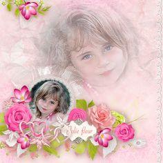 love, amour, pink, women, girly, digital scrap, template, scrapbooking, girl, flower