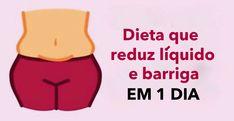Elimine O Excesso De Líquido E Reduza A Barriga Em Apenas 1 Dia Fazendo Esta Impressionante Dieta!