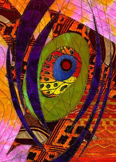 In the Beginning 1 - Quilt by David Walker. Collection of Laurie Bilbruck, Huntington Beach, CA