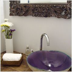 decoracion para baños de restaurantes | bacha ceramica artesanal ... - Bachas Para Bano Pintadas A Mano