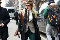 Women in menswear at Milan Fashion Week