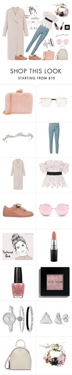 """""""Sporty princess"""" by fatmaysl ❤ liked on Polyvore featuring Sophia Webster, Gucci, RE/DONE, Elie Tahari, self-portrait, Puma, Matthew Williamson, MAC Cosmetics, Bobbi Brown Cosmetics and SO & CO"""