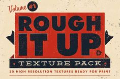 Rough It Up Texture Pack Vol. #1 by DrewGliever on @creativemarket