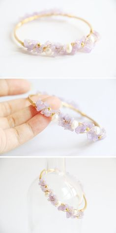 Hey, I found this really awesome Etsy listing at https://www.etsy.com/listing/158271508/amethyst-and-pearl-bracelet-wire-wrapped
