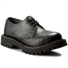 Glany STEEL - 101-102/O Black Men Dress, Dress Shoes, Derby, Oxford Shoes, Lace Up, Calm, Steel, Black, Fashion