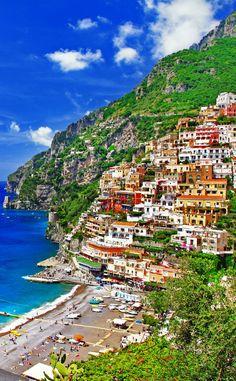 Beautiful Positano. Coast of Amalfi      10 Amazing Places in Italy You Need To Visit
