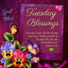 God Bless Tuesday Blessings