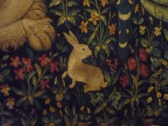 Detail from one of the lady and the unicorn tapestries: