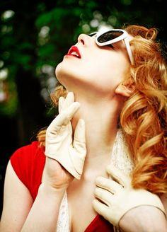 dp2 by blugoogirl #pinup #vintage #gloves #sunglasses #blugoogirl