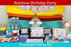 Rainbow Birthday Party / Rainbow Party /  by UnlimitedPartyThemes