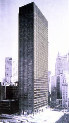 Seagram Building. New York City. Mies Van Der Rohe, Philip Johnson. 1957