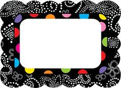 creative teaching press name tags to go with the my new things in the BW collection Polka Dot Classroom, Classroom Themes, Classroom Labels, Preschool Classroom, Classroom Resources, Teacher Tools, Teacher Gifts, Teacher Stuff, Cubby Name Tags