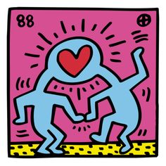 Art.com and The Keith Haring Foundation have collaborated to present more than 60 iconic works by the late artist. The Keith Haring Foundation, established in 1989, preserves Haring's artistic and philanthropic legacy through the circulation of his art, and through charitable contributions. This work: Pop Shop (Heart) by Keith Haring.