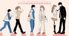So cute.Oikawa and Kageyama Daisuga, Iwaoi, Kageyama Tobio, Kagehina, Haikyuu Genderbend, Haikyuu Manga, Haikyuu Fanart, Chibi Sketch, Haruichi Furudate