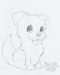 Puppy Sketch by ~Kitty-Ham on deviantART: