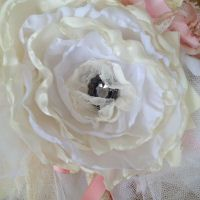 White and Cream Fabric Flower ~ How To