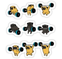 OLYMPIC LIFTING PUGS • Also buy this artwork on stickers, apparel, phone cases, and more.