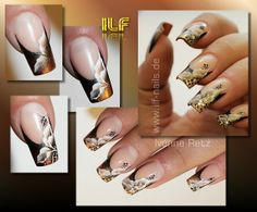 One stroke by Yvonne Retz French Nail Designs, Beautiful Nail Designs, Cool Nail Designs, One Stroke Nails, Nails First, Nail Candy, Spring Nail Art, Great Nails, Elegant Nails