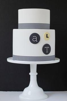 modern #wedding #cake