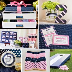 Talk about STYLE! You have to see this {Pink & Navy} Preppy Tie Birthday Party by Paige Simple Studio! #Preppy