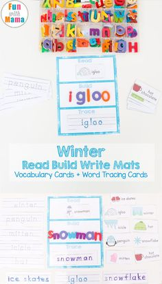 These free printable winter read build write mats are great for literacy centers, word work, learning sight words, spelling and reading skills. We love fun hands on learning activities and products that actually help kids improve their test scores and are