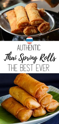 Authentic Thai Spring Rolls - this is the only recipe you ever need. Learn how to fill and roll them like a pro with my Chinese Spring Rolls, Thai Spring Rolls, Chicken Spring Rolls, Easy Chicken Spring Roll Recipe, Easy Spring Rolls, Thai Appetizer, Asian Appetizers, Appetizer Recipes, Soup Appetizers