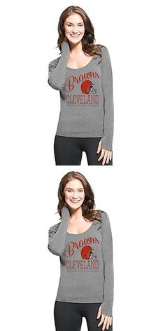 Women 159110: Nfl Cleveland Browns Womens 47 Forward Dash Long Sleeve Tee, Shift Grey, Large BUY IT NOW ONLY: $45.83