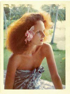 Grace Coddington, photographed by Norman Parkinson in Jamaica, 1975.
