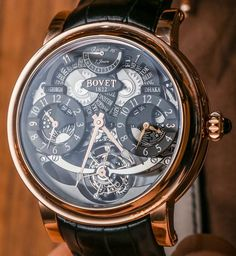 """Bovet Fleurier Recital 16 Triple Time Zone Tourbillon Watch Hands-On - by Ariel Adams - see both versions, the pictures, video, and read more: http://www.ablogtowatch.com/bovet-recital-16-watch-hands/ """"I am never shy about taking an opportunity to cover one of Bovet's exciting Recital collection timepieces and here is a look at the new for 2014 Bovet Recital 16. In the video below, you'll see a bit of the Bovet Recital 16 as well as the other new Recital watches for the year..."""""""