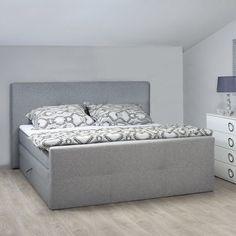 Boxspringbett 140x200 beige  Boxspringbett BORIS - anthrazit-weiß - 140x200 cm - H2 inklusive ...