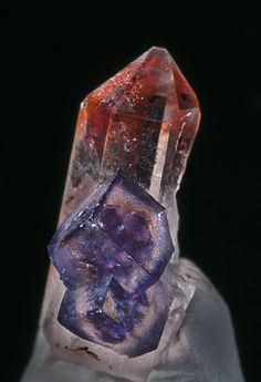 Quartz, Fluorite - Orange River, Northern Cape Province, South Africa / 18 x [mm] Minerals And Gemstones, Rocks And Minerals, Beautiful Rocks, Mineral Stone, Rocks And Gems, Stones And Crystals, Gem Stones, Crystal Magic, Quartz