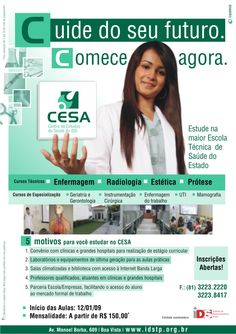 CESA - Centro de Estudos da Saúde de Pernambuco - Campanha publicitária de matrículas.