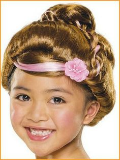Complete a darling dress-up outfit with this whimsical wig. Featuring a glistening braided bun and a pretty flower accent, this identity-altering accessory will transport any little princess into a fairy tale. Mean Girls Costume, Little Girl Costumes, Dress Up Wardrobe, Dress Up Outfits, Kids Wigs, Knot Braid, Princess Costumes, Costume Wigs, Halloween Accessories