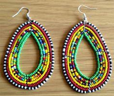 Handmade Beaded Hoop Earrings Images