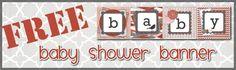 Baby Shower Printable Banner | Leelou Blogs