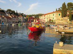 The Port of Maslinica on the island Šolta /