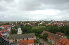 Blick vom Turm in Niederroßla Thüringen