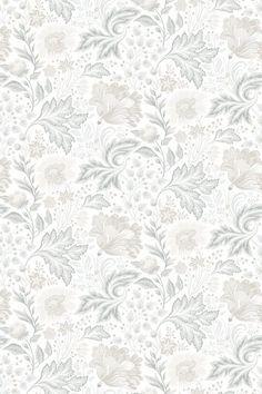 Ava-Elvira by Sandberg - Grey - Mural : Wallpaper Direct Hallway Wallpaper, Accent Wallpaper, Dining Room Wallpaper, Toile Wallpaper, Bathroom Wallpaper, Pattern Wallpaper, Grey Floral Wallpaper, Textured Wallpaper, Abstract Face Art