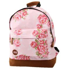 Mi-Pac Mi Pac Floral Pink Rose Print Backpack (€27) found on Polyvore