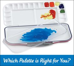 Choosing a watercolor palette container that results in better paintings.