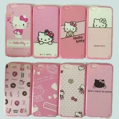 Hot Cute Hello Kitty Case Crystal TPU Case For Iphone 5s 6s 6 Pluse Phone Case Accessories Protector -060096