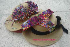 Bikini Mandalas Multicolores  Corpiño con volados + Colaless  Morcis Swimwear